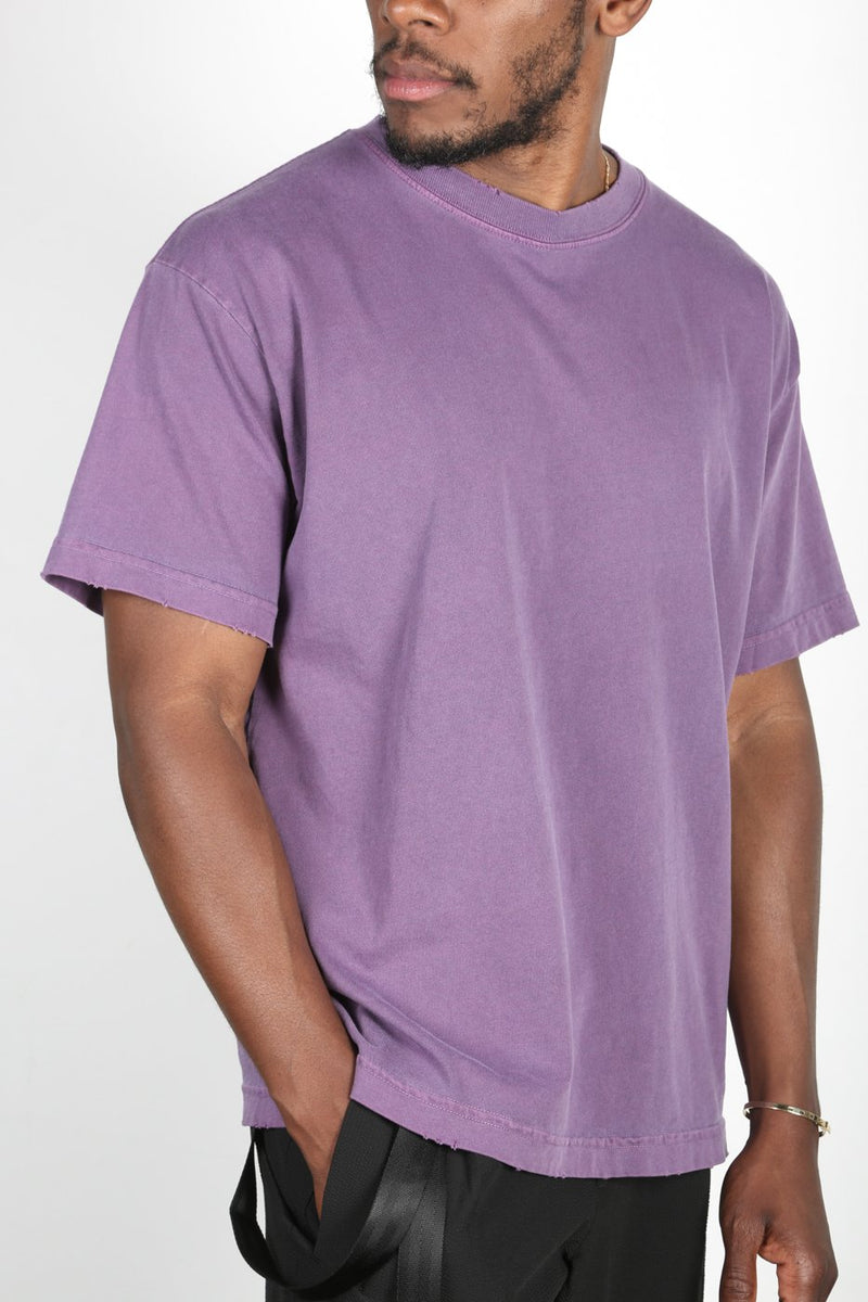 Purple Distressed Lightweight T-Shirt