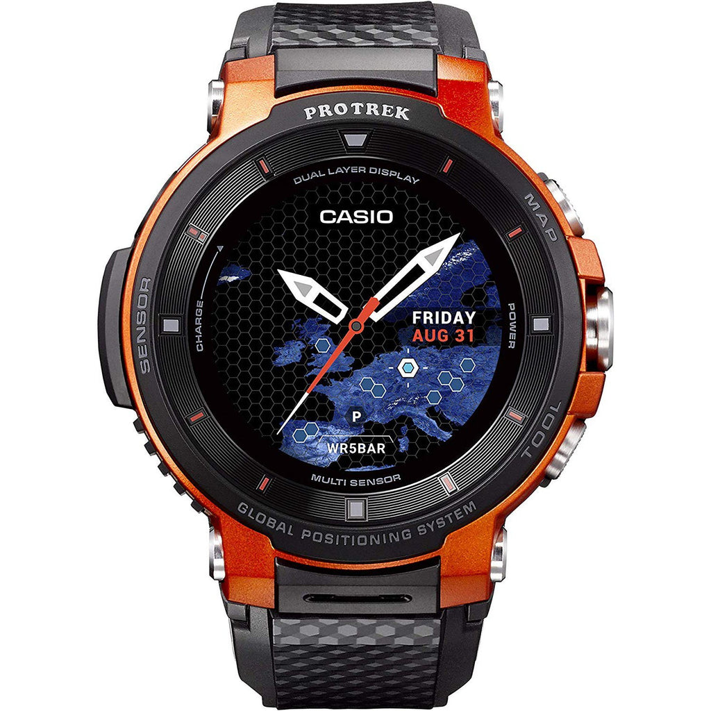 Black & Orange Pro Trek WSDF30-RG Smart Watch