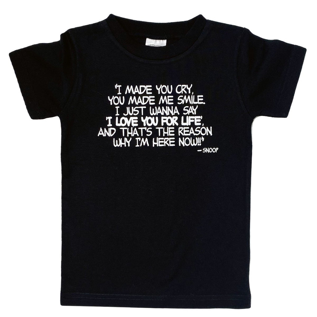 Black Love You For Life T-Shirt