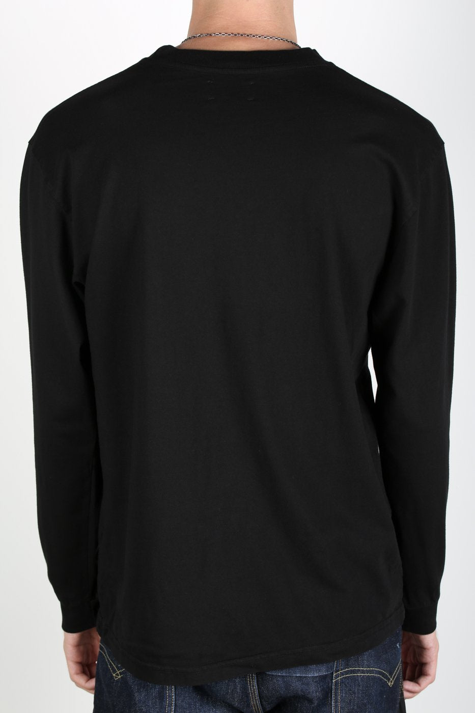Black Modern Long Sleeve Logo Onyx T-Shirt