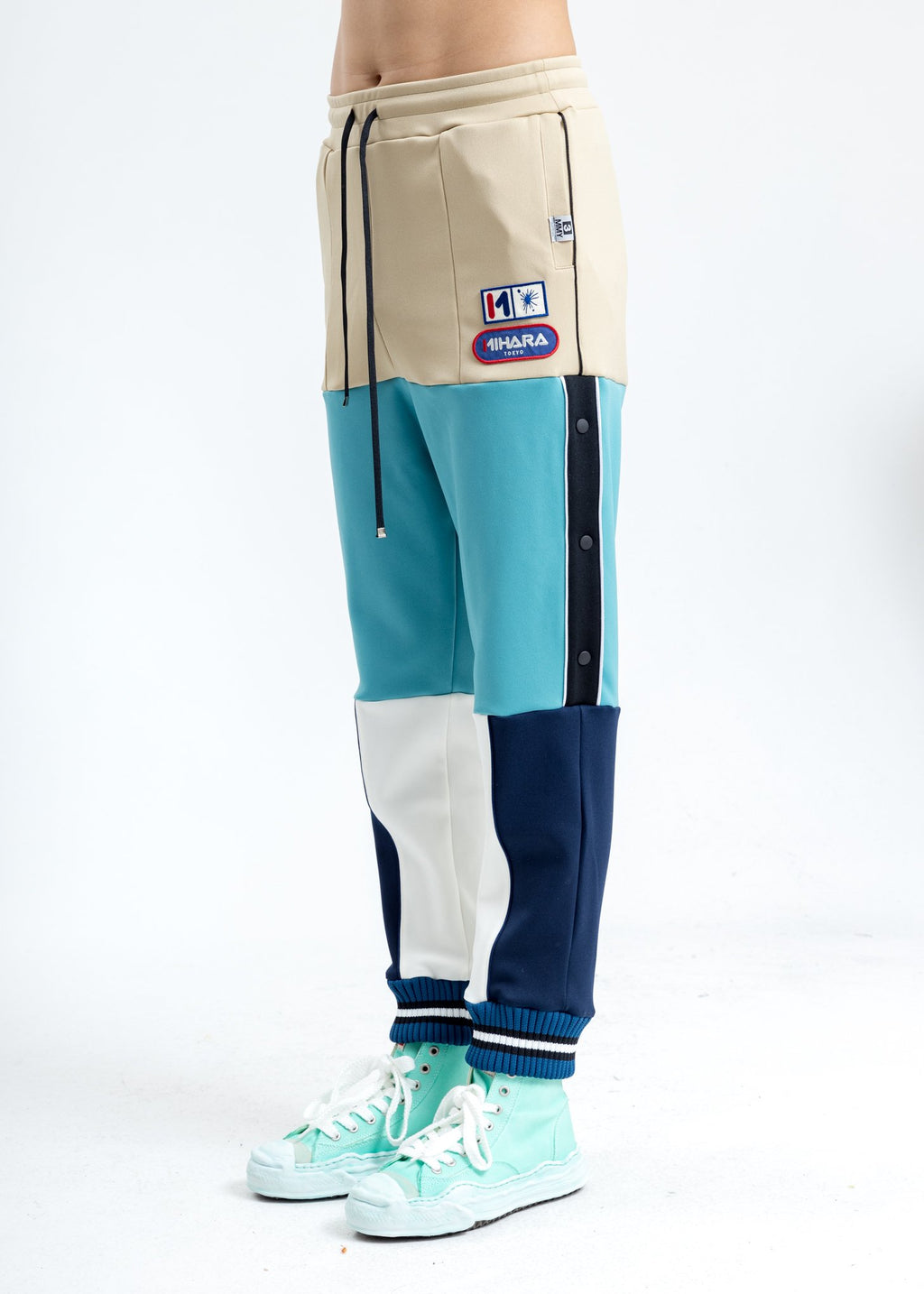 Blue Border Track Pants