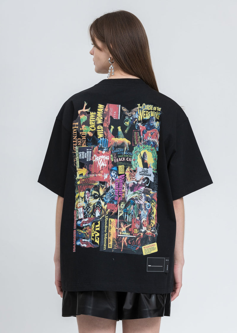 Black Movie Collage T-Shirt