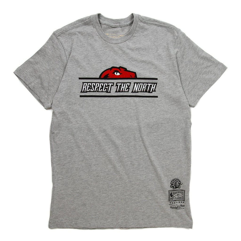 Grey NBA Raptors Respect The North Half Head T-Shirt