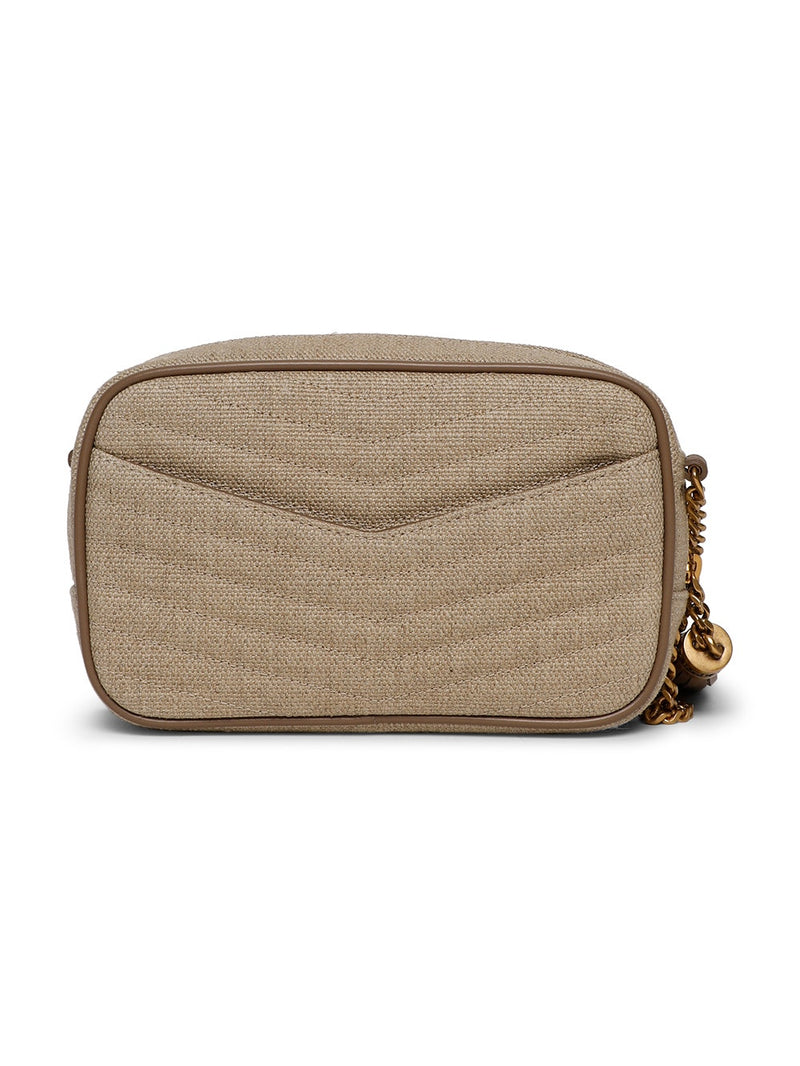 Taupe Mini Monogram Lou Crossbody Bag