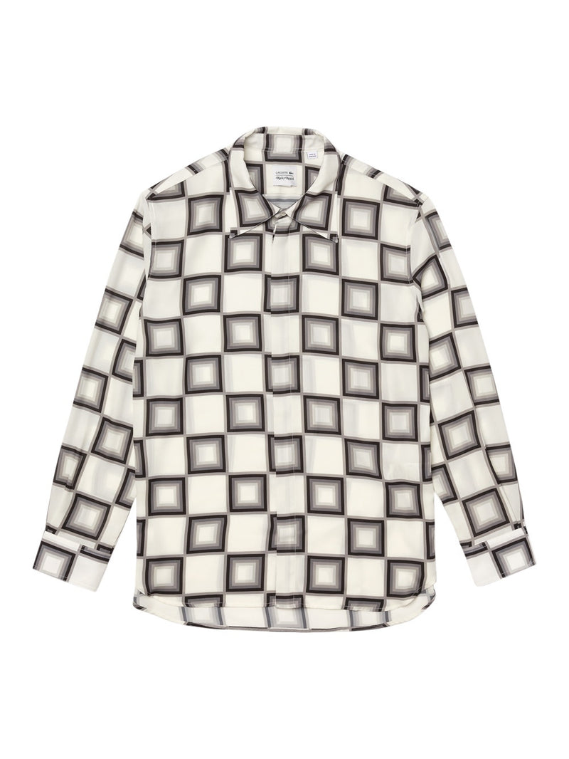 White x Ricky Regal Relaxed Fit Flowy Checkerboard Shirt