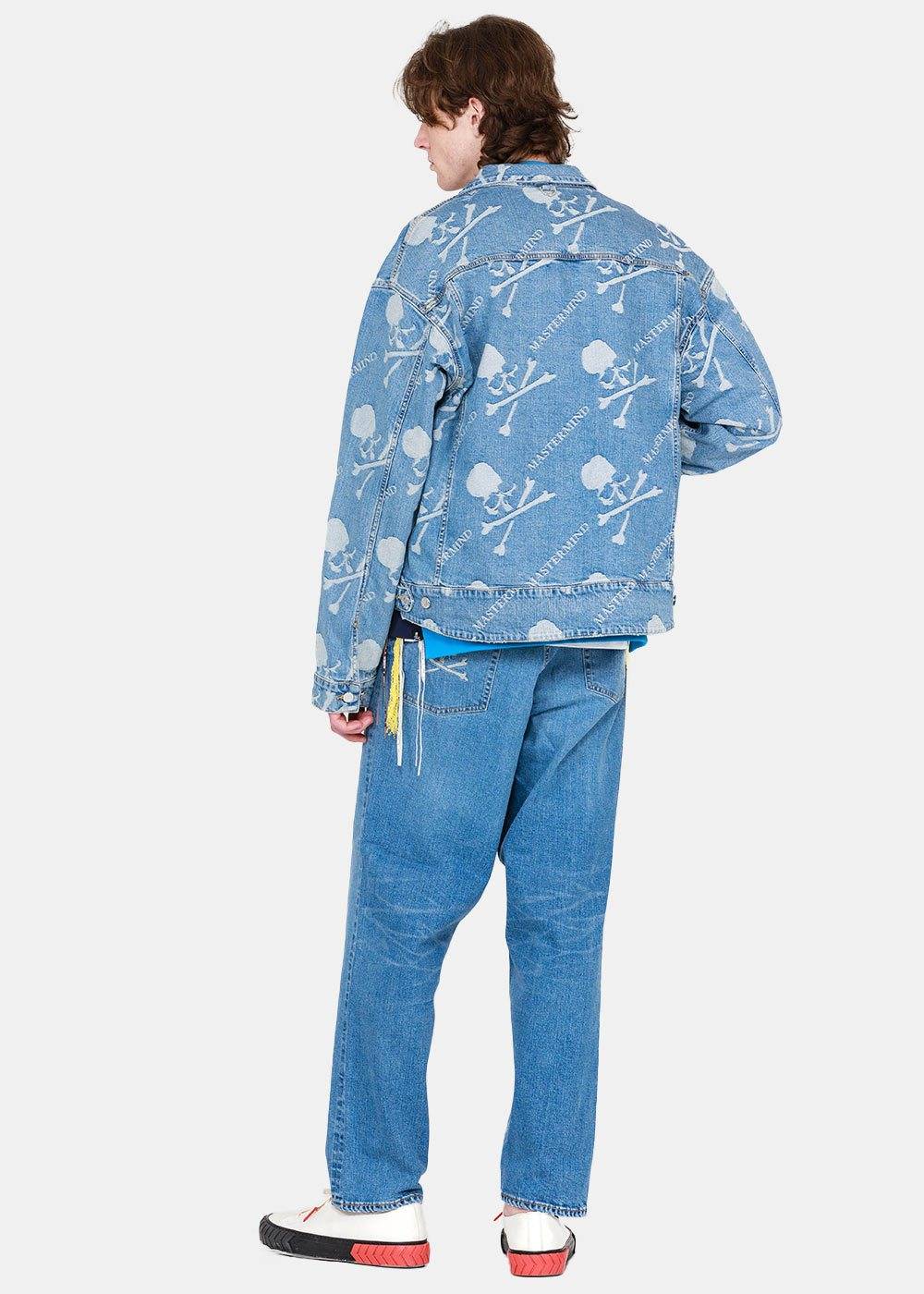 Indigo Logo Jacquard Denim Jacket