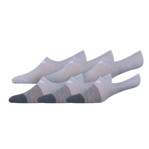 Grey & White Og Block Space Dye Sneaker Sock 6-pair