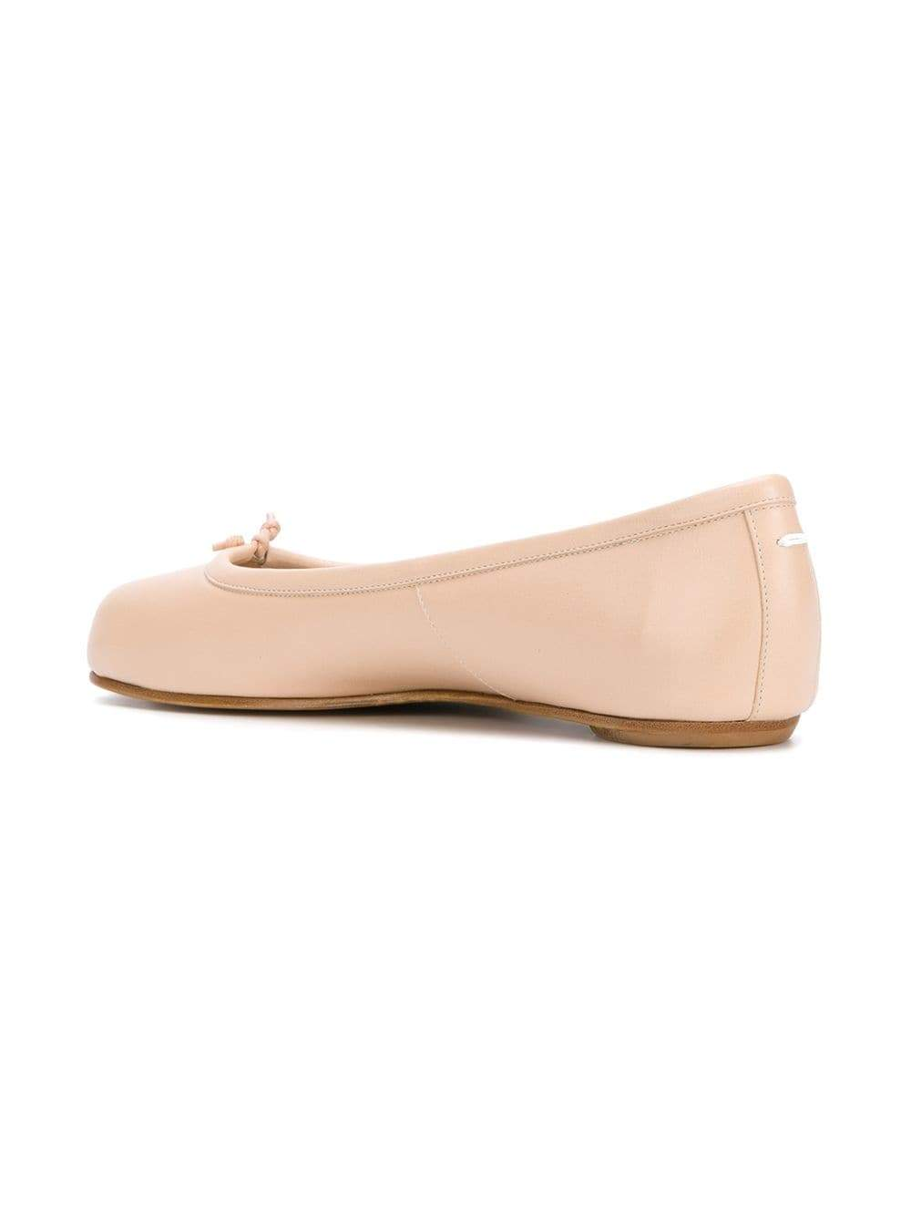 Beige Tabi Flat Shoes