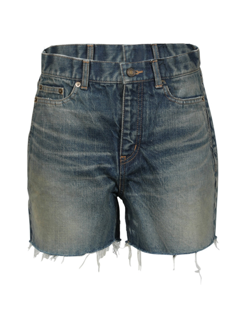 Blue Cut-off Denim Shorts
