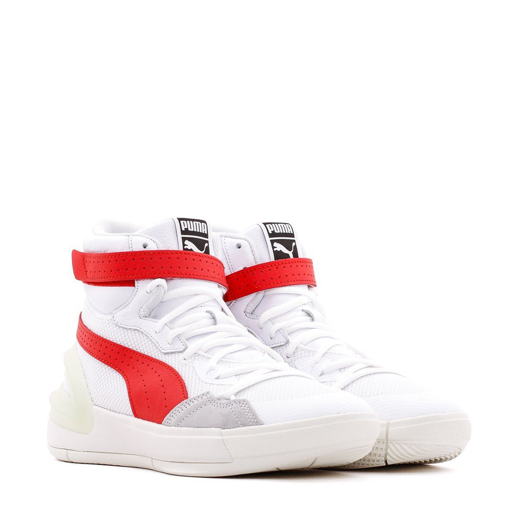 White & Red Sky Modern Sneakers