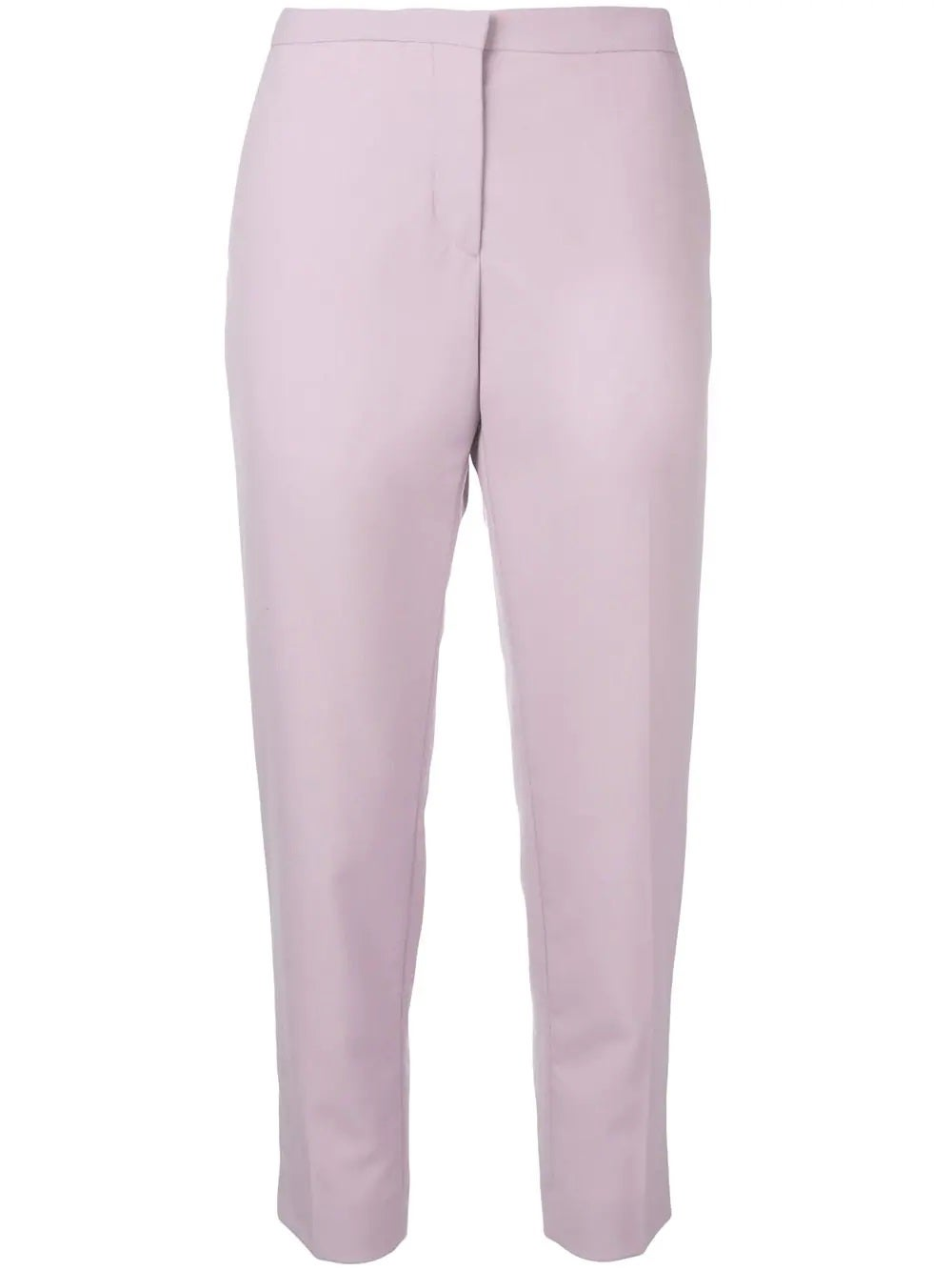 Purple Cropped Tailored Trousers