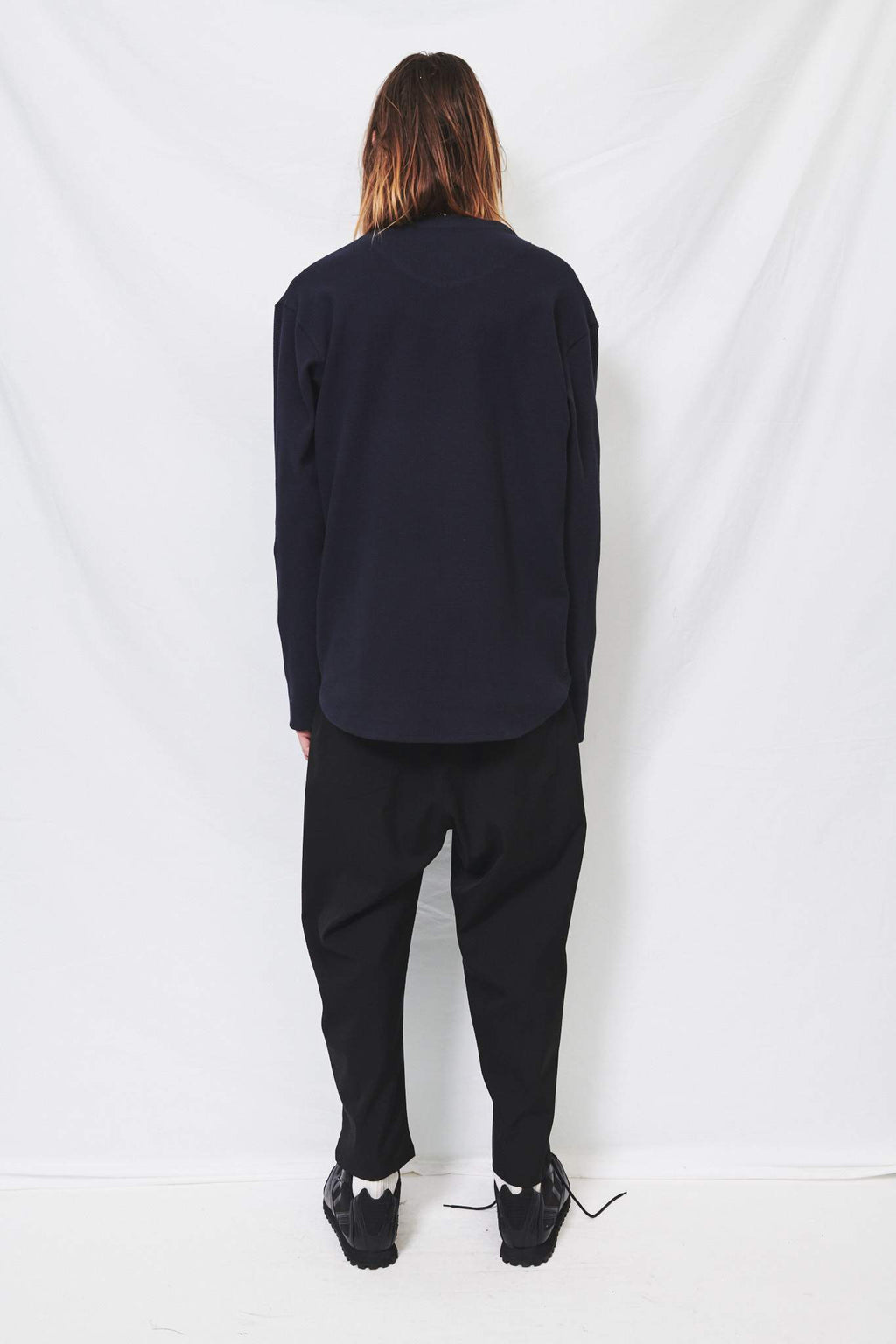 Black Suiting Easy Pants