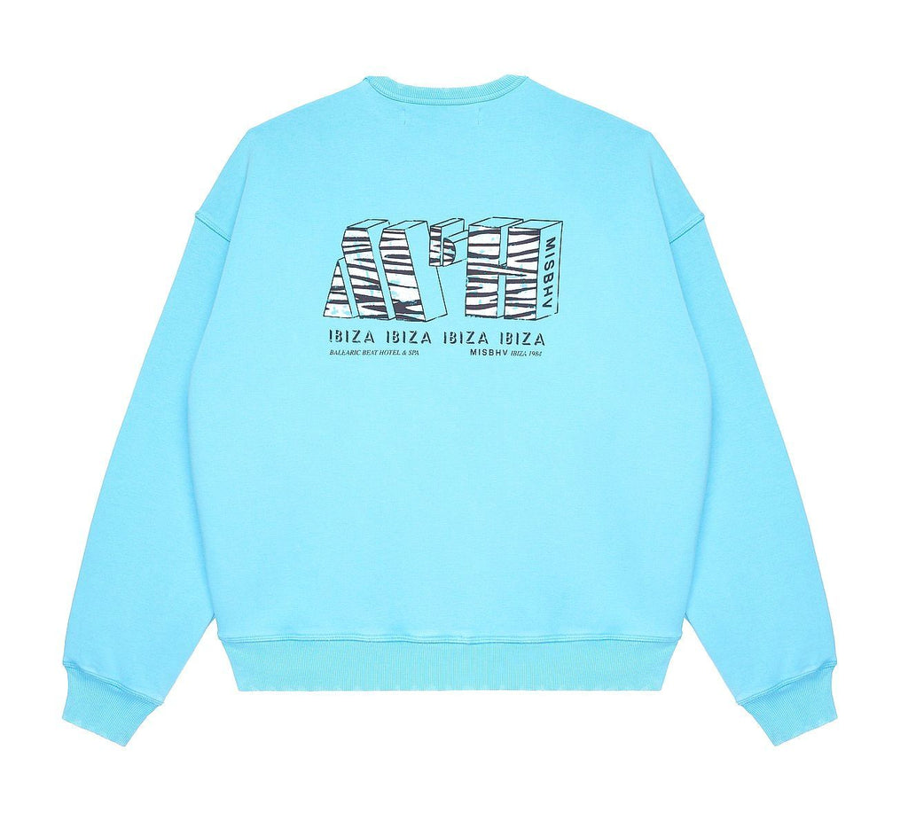 Turquoise The MBH Hotel Spa Crewneck Sweater