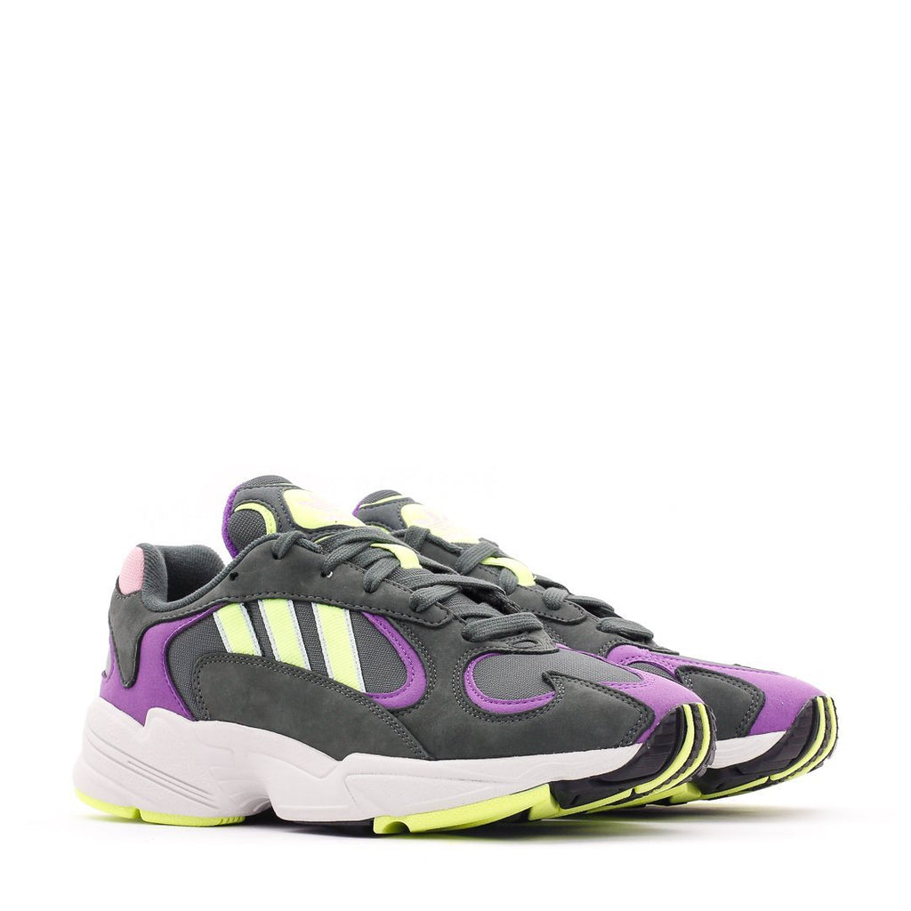 Purple & Green Yung-1 Sneakers