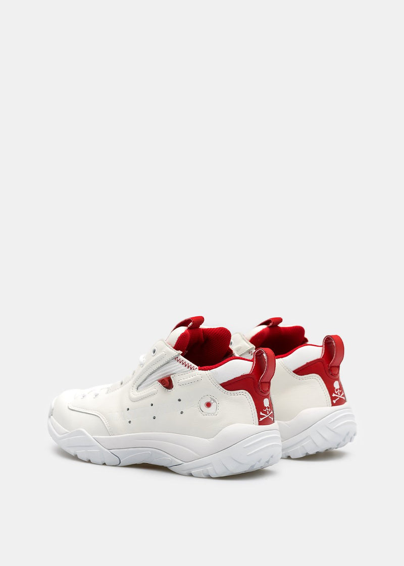 White & Red Gravis Rival Sneakers