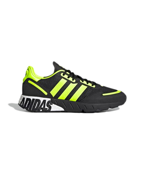 Black and Yellow ZX 1K Boost Sneakers