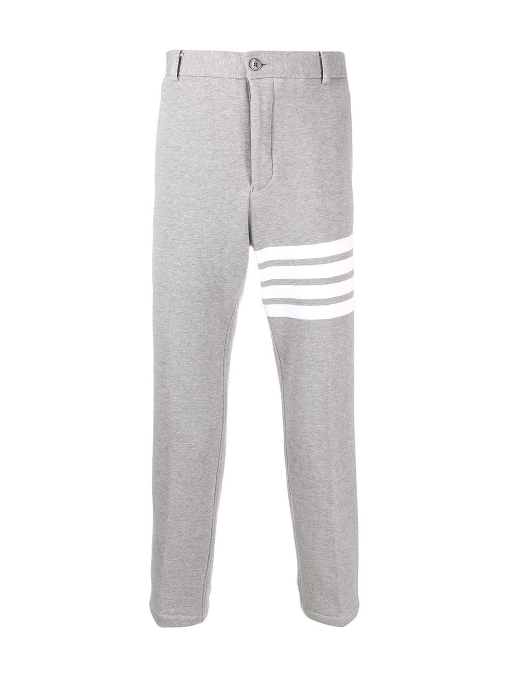 Grey 4-Bar Chino Trousers