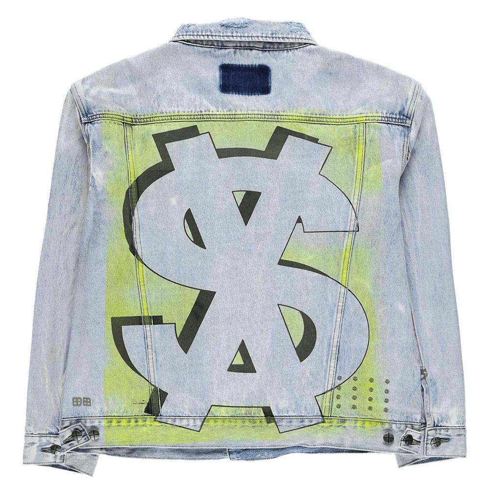 Blue & Neon Oh G Stoked Neon Denim Jacket