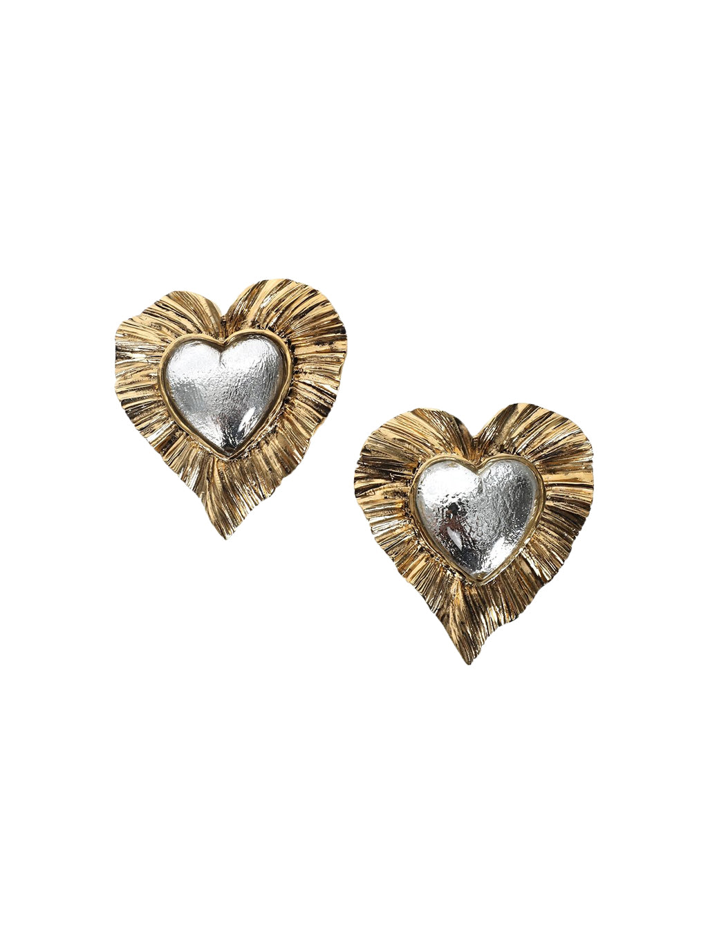 Gold Héritage Radiating Heart Earrings