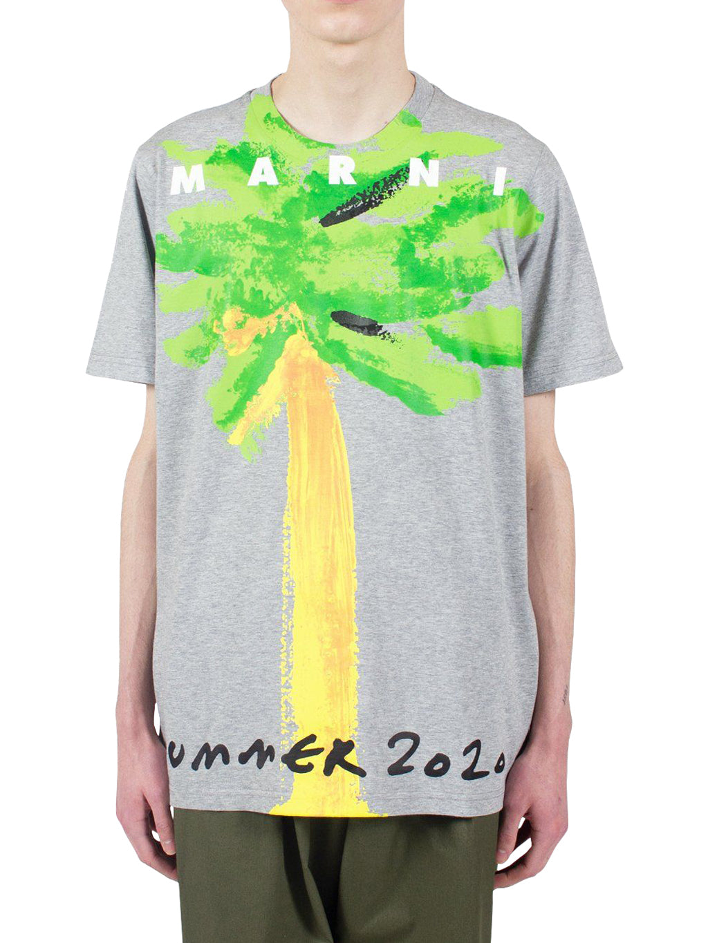 Grey Tree Print T-Shirt