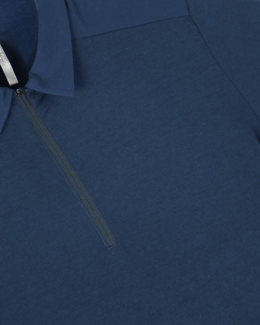 Navy Frame LS Polo T-Shirt
