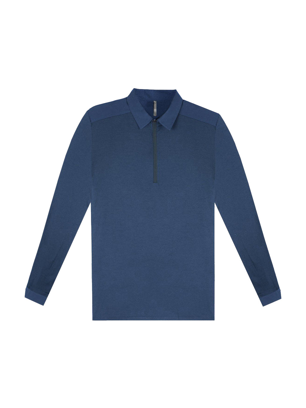 Navy Frame Long Sleeve Polo T-Shirt