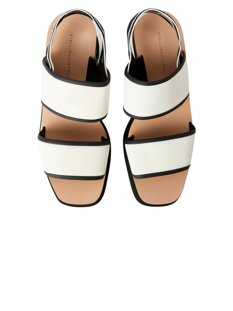 Black and White Elyse Sandals
