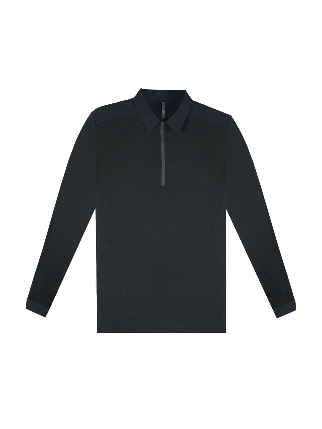 Black Frame Long Sleeve Polo T-Shirt