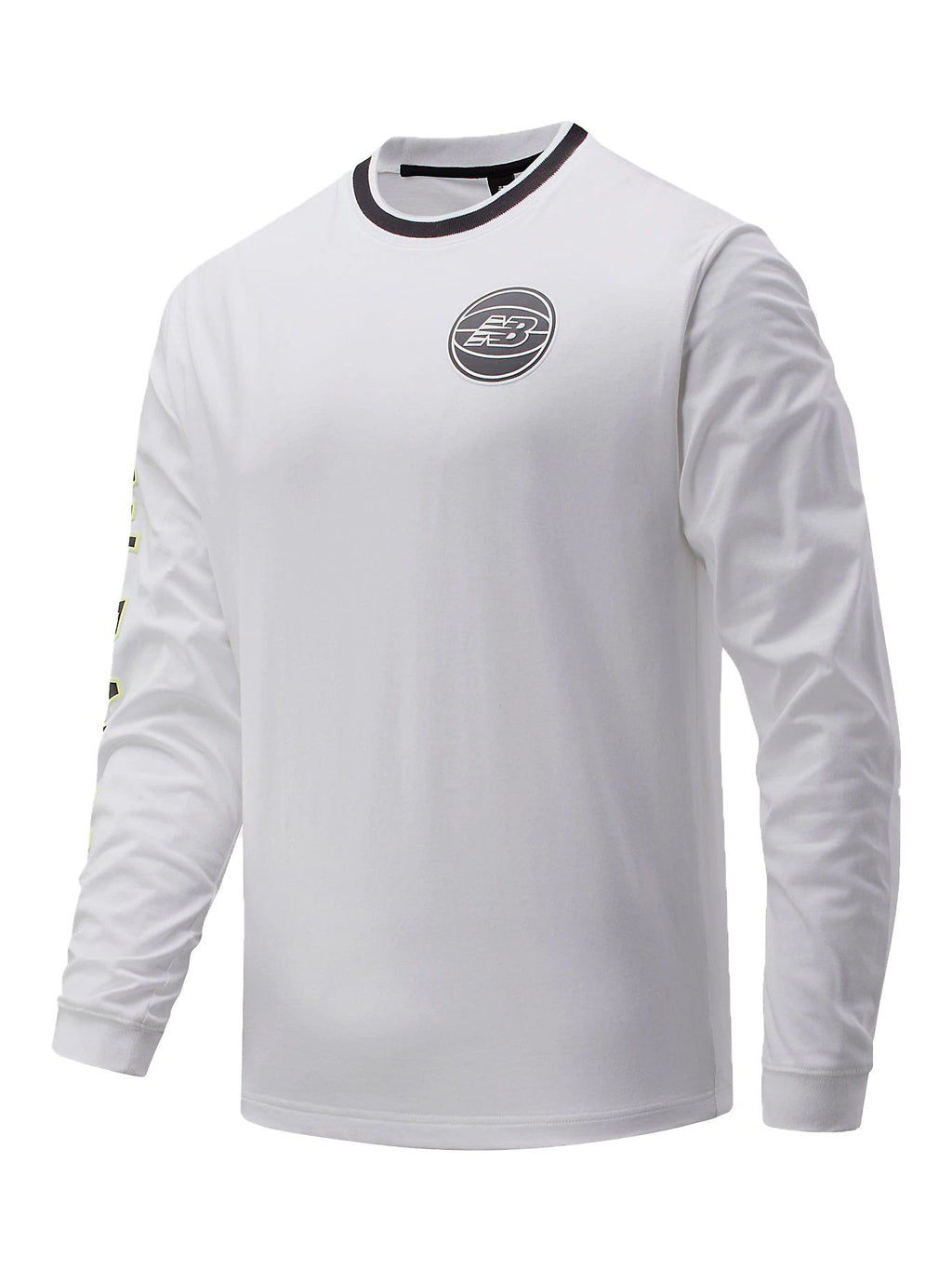 White Basketball Men First Light Long Sleeve T-Shirt