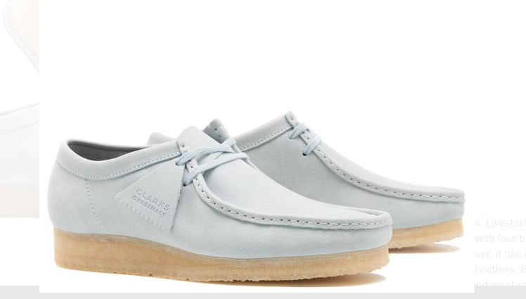 Blue Wallabee Shoes