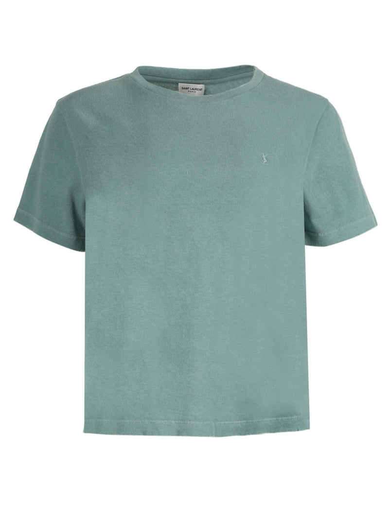 Green Embroidered House Logo T-Shirt
