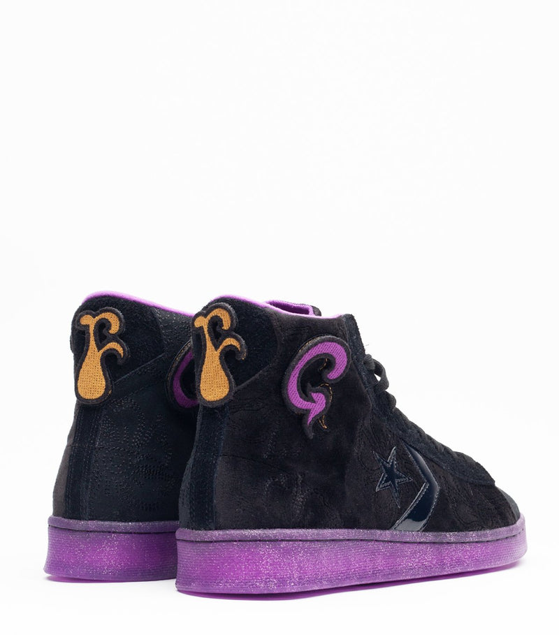 Black & Purple x Joe Freshgoods Pro Leather Hi Sneakers