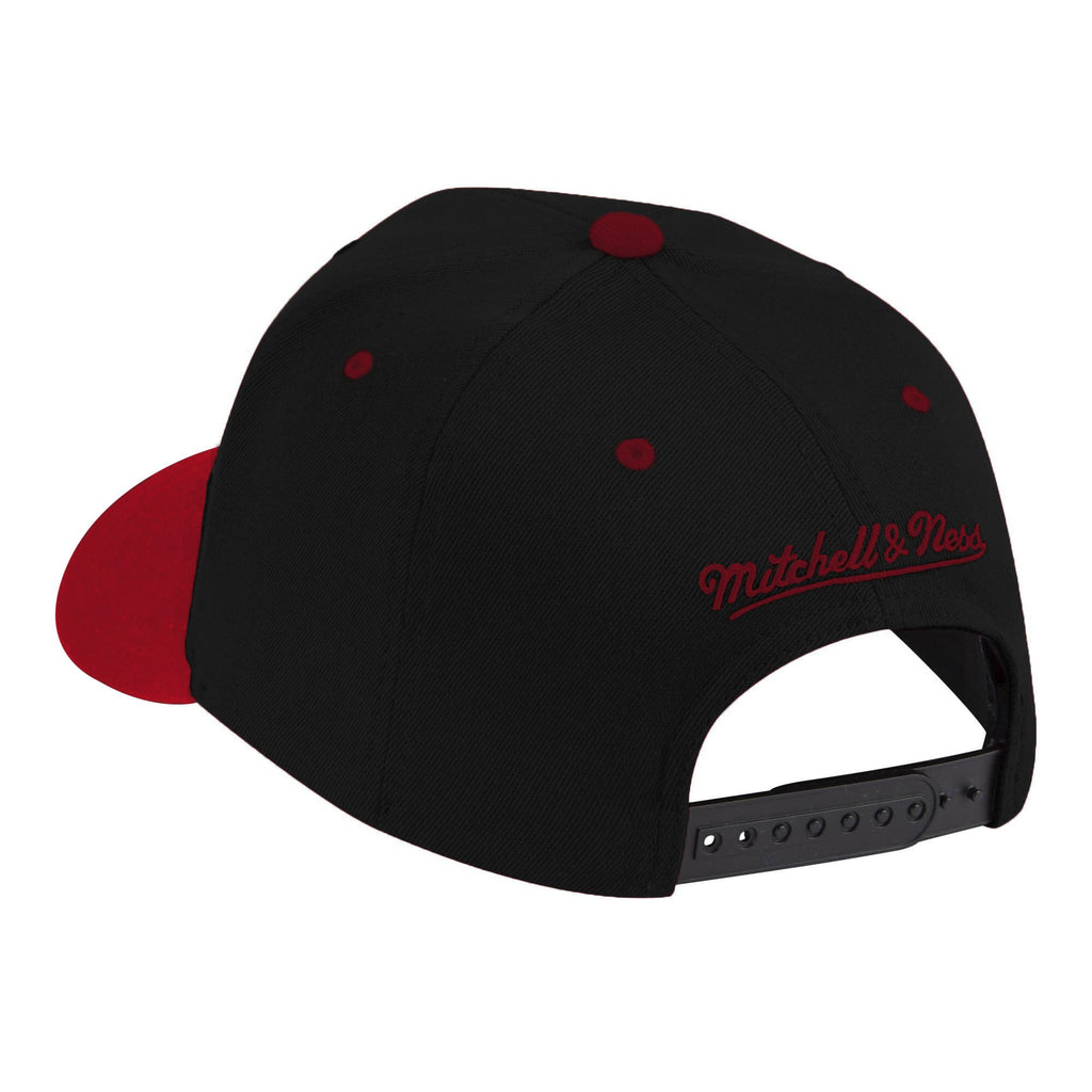 Black & Red NBA Toronto Raptors Wool 2 Tone Flex Snapback Cap
