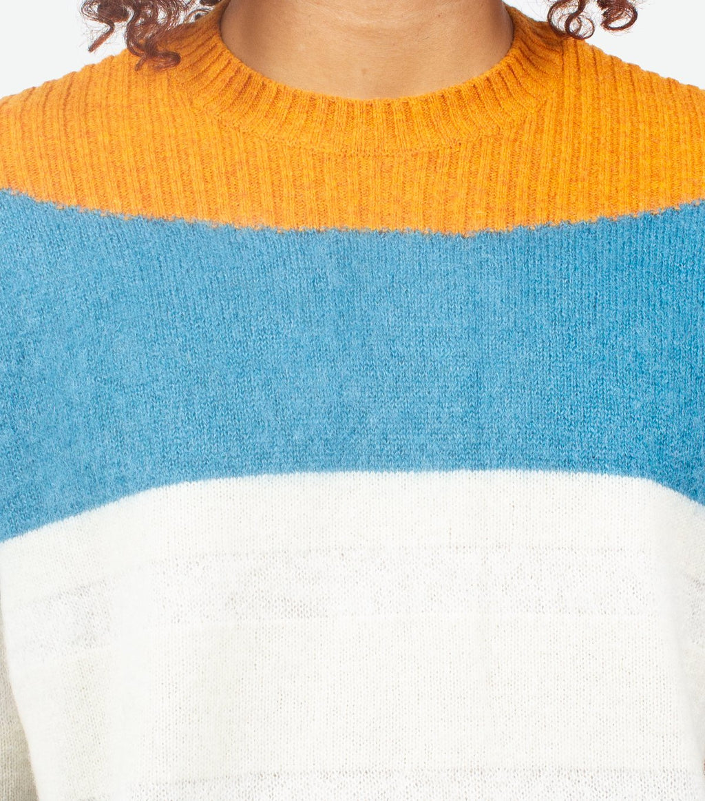 Orange Strip Sweaters