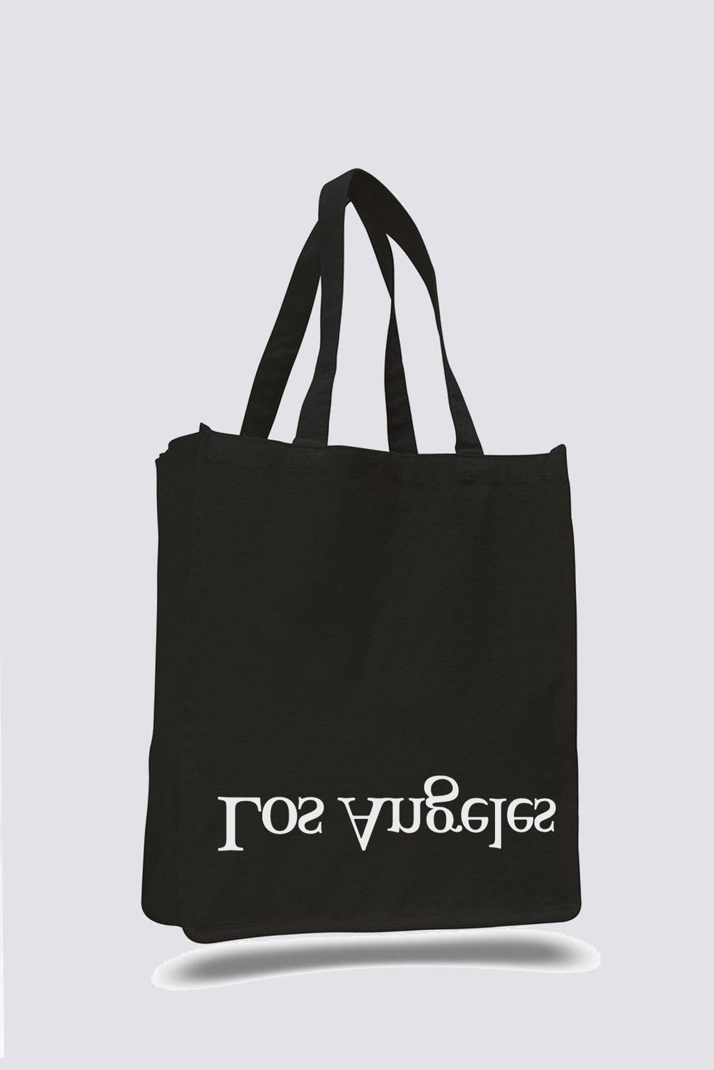 Black Cotton Logo NY/LA Tote Bag