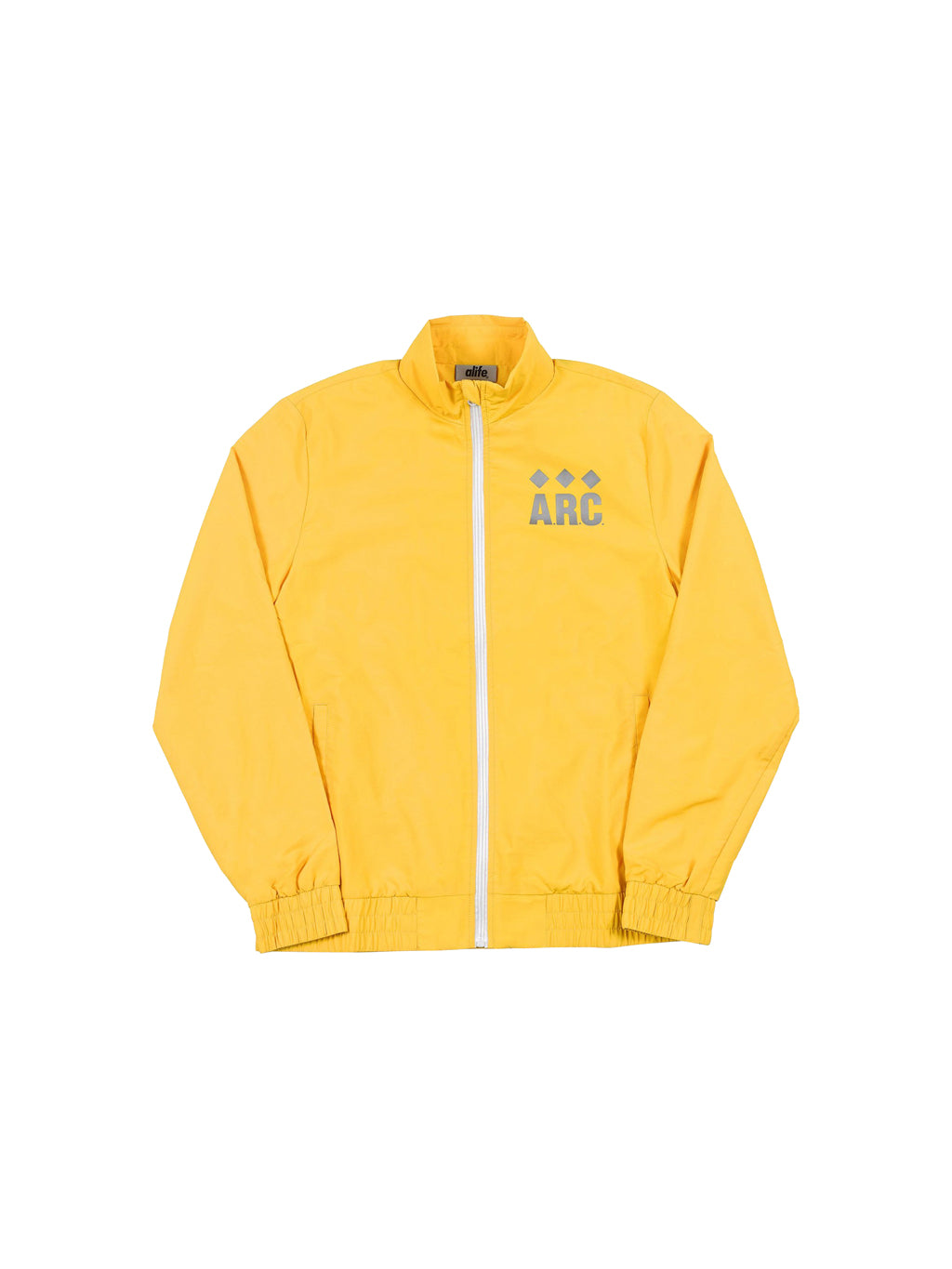 Gold Nylon Track Jacket