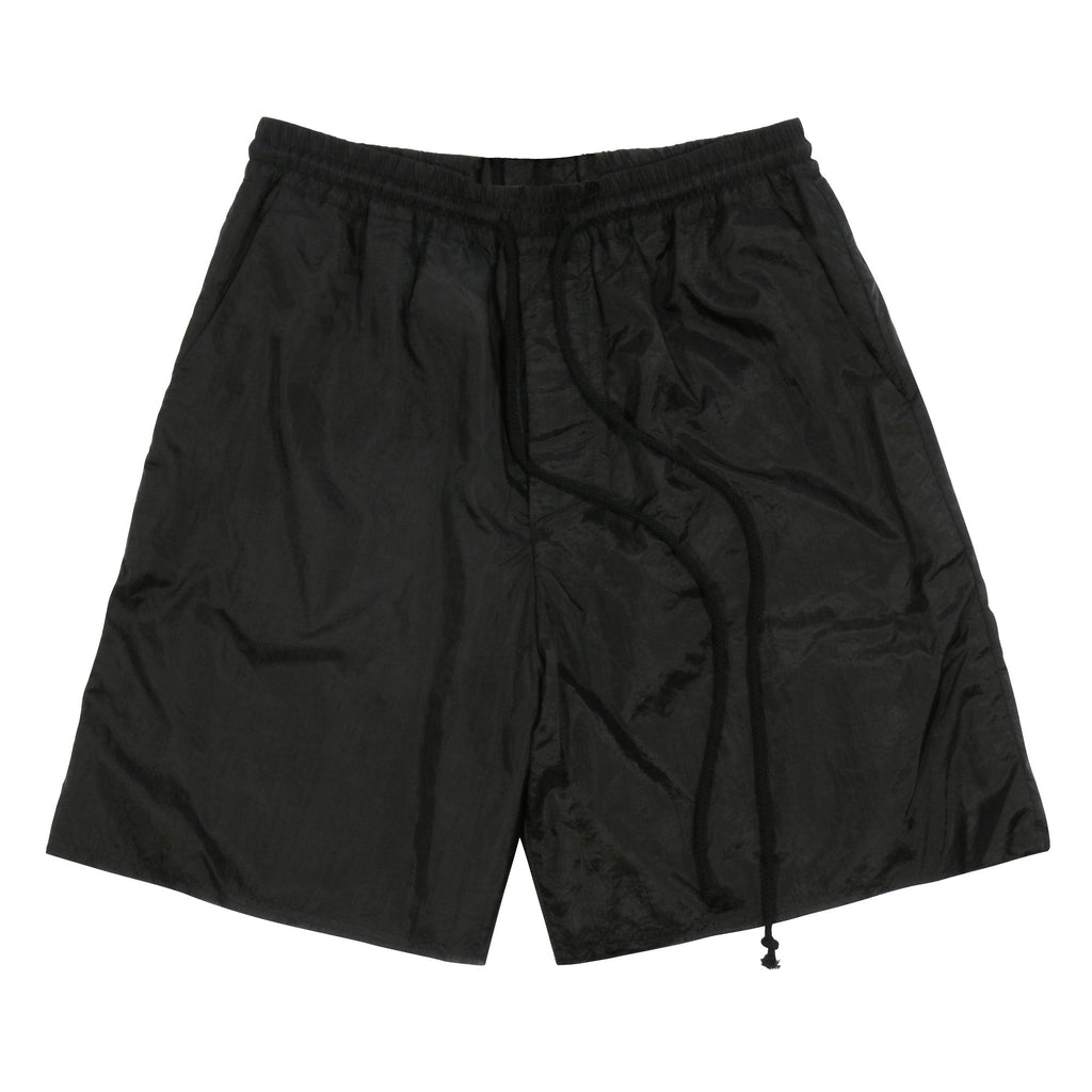 Black Lined Elasticated Shorts