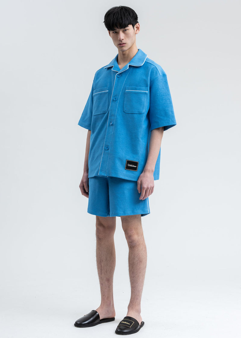 Blue Zurry Pajama Shorts