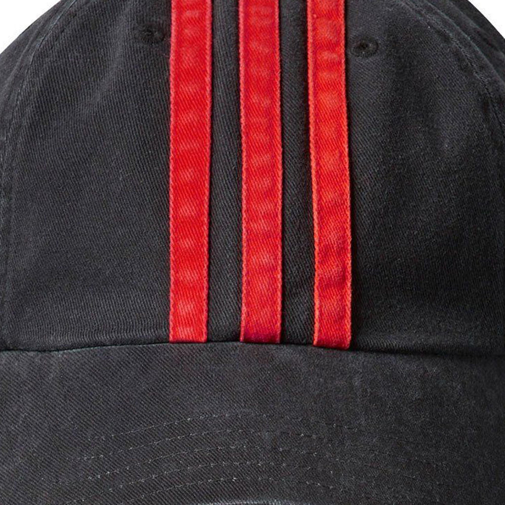 Black & Red Overdye Cap