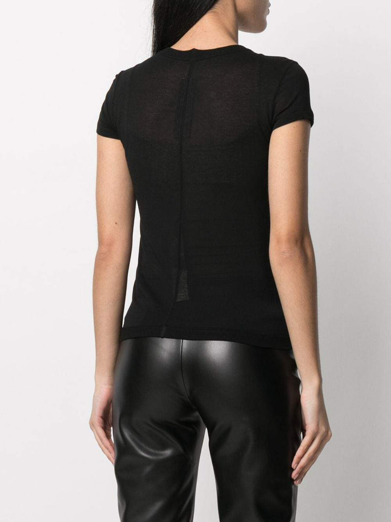 Black Cropped Level T-Shirt