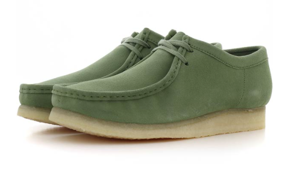 Green Wallabee Boots