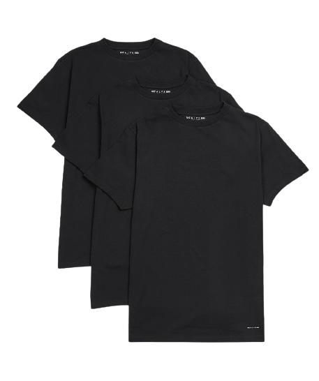 Black Visual 3 Pack T-Shirt