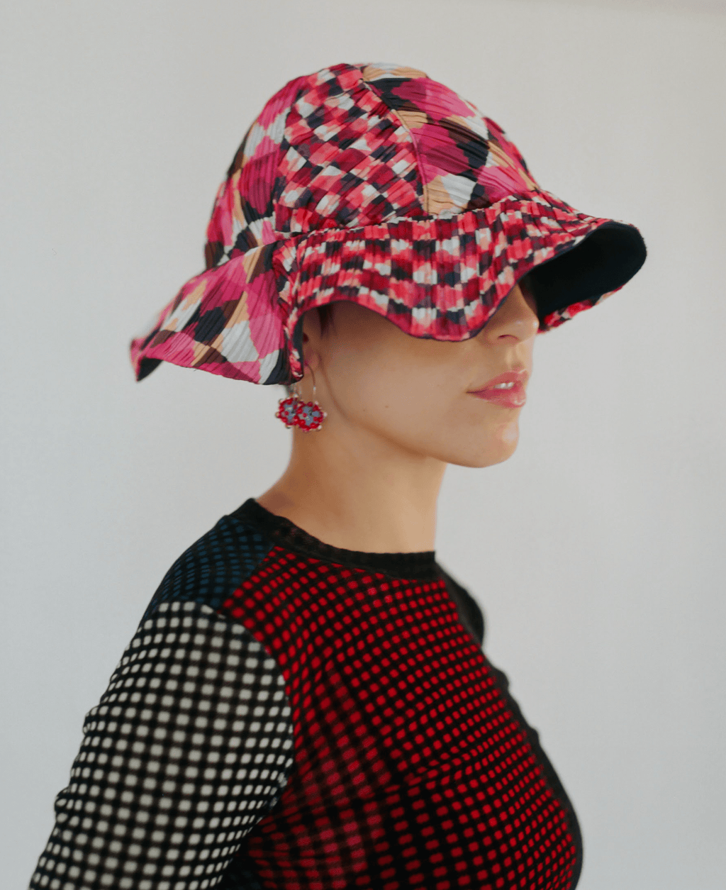 Reworked Pleated Bucket Hat