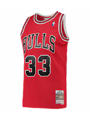 Red NBA Chicago Bulls Scottie Pippen T-shirt