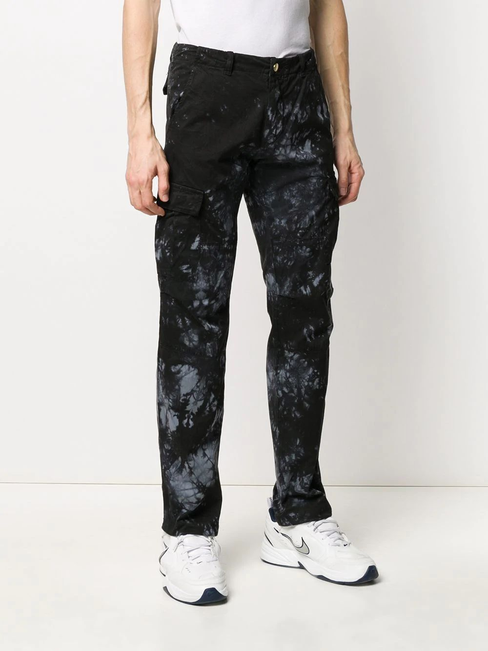 Black Midnight Tie-Dye Cargo Pants