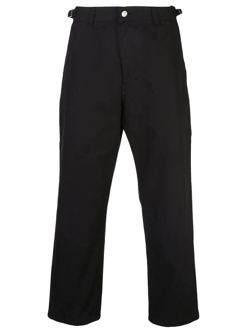 Black Worker Straight Fit Trousers