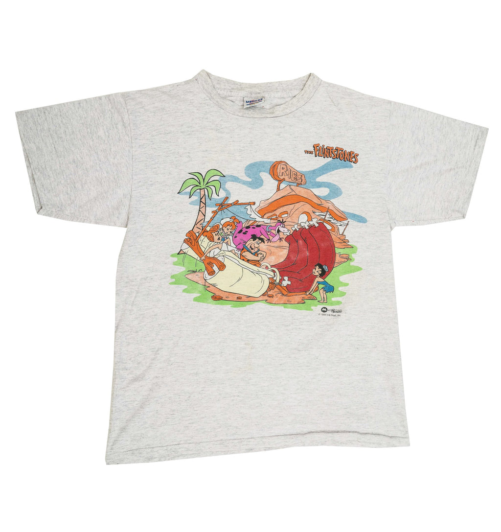 Grey 1994 Flintstones Ribs T-Shirt (M)