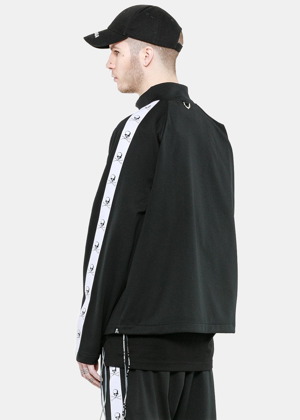 Black Oversized Track Jacket