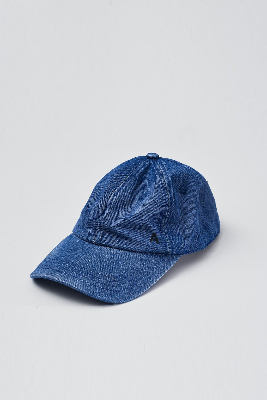 Dark Washed Denim Monogram Hat