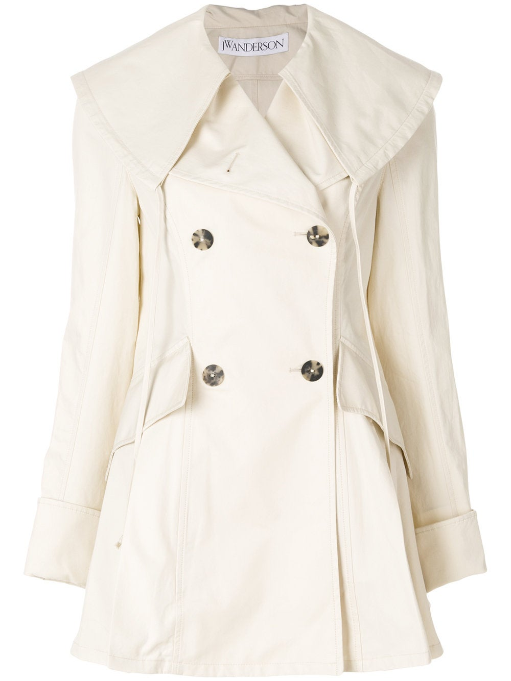 Ivory Double Breasted Coat